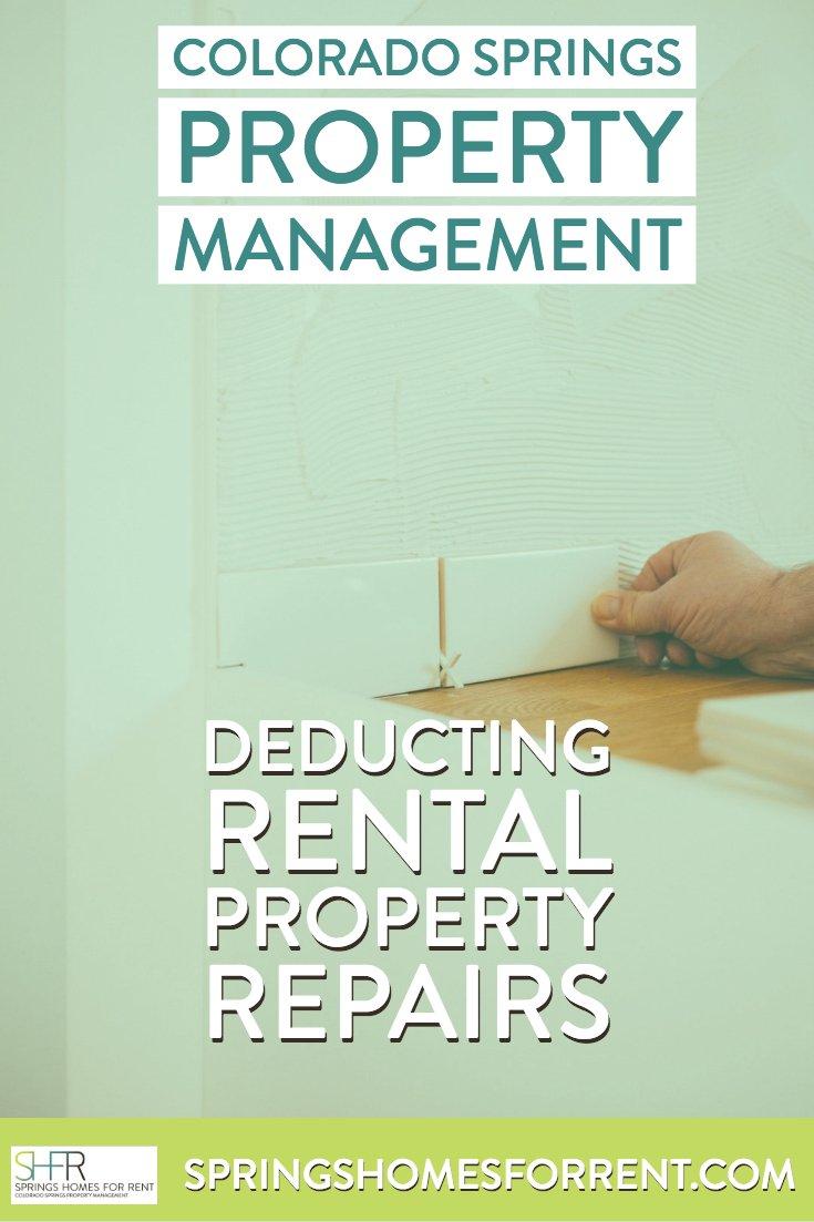 Deducting Rental Property Repairs