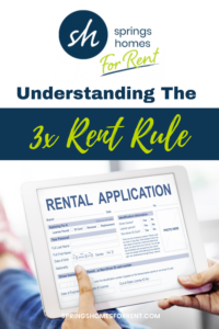 3x rent rule